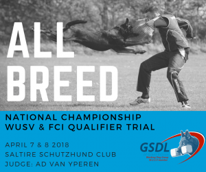 All Breed Nationals & WUSV/FCI Qualifier Trial @ Saltire Schutzhund Club | Scotland | United Kingdom